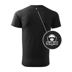 pánske tričko čierne odzadu detail