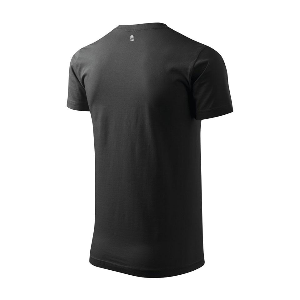 pánske tričko čierne odzadu zboku