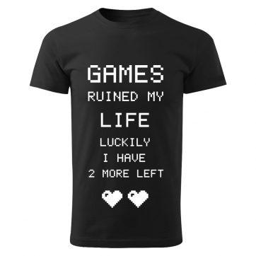 Pánske tričko Games ruined my LIFE